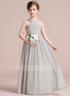 A-Line Princess V-neck Floor-Length Ruffle Bow(s) · Girls Bridesmaid  DressesFlower Girl DressesGirls DressesDressy DressesFlower GirlsBridesmaidsPopular  ... a1b34331379c