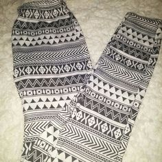 Black&white Aztec leggings My favorite ! So comfortable. One size fits all. With stretchy waist band. Got these from journeys Pants Leggings