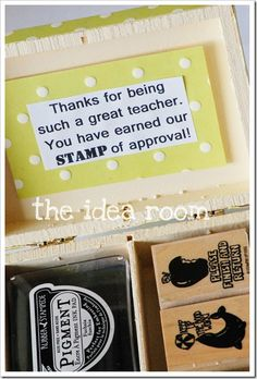"If you could find a deal on stamps you could do something like this for your Directors - ""thanks for being such a great Director - you have earned my STAMP of approval!"""