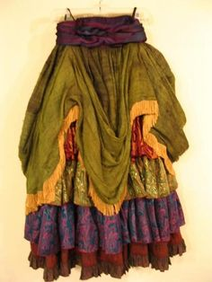 Ethnic gypsy style skirt funky-bohemian-patchwork-owls-colorful-fash