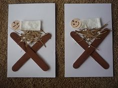 Crafty Mama: Baby Jesus in a Manger Christmas Jesus, Preschool Christmas, Christmas Crafts For Kids, Christmas Activities, Holiday Crafts, Christmas Cards, Jesus Crafts, Bible Crafts, Jesus In A Manger