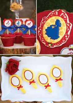 Snow White & the Seven Dwarfs in Woodland Party: cupcakes and cookies
