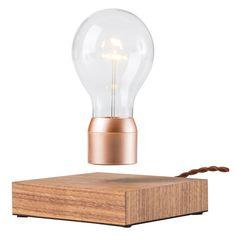 Flyte lampe en lévitation - modèle Buckminster noyer et cuivre - The Conran Shop