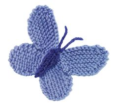 StitchFinder : Knit Nature Motif: Large Blue (Butterfly) : Frequently-Asked Questions (FAQ) about Knitting and Crochet : Lion Brand Yarn Knitted Flower Pattern, Knitted Headband Free Pattern, Crochet Butterfly Pattern, Knitted Flowers, Knitting Club, Loom Knitting, Knitting Stitches, Free Knitting, Baby Knitting Patterns