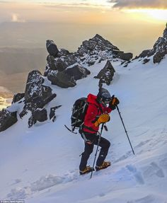 Breathtaking shots of the climb up Mount Elbrus, one of her Seven Summits mountains. She i...