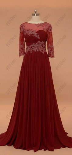 Burgundy mother of the bride dress with sleeves modest mother of the bride dresses mother of the groom dresses plus size formal dress