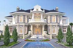 Minimal House Design, Classic House Design, Unique House Design, Dream Home Design, House Outside Design, House Front Design, Classic House Exterior, Dream House Exterior, House Construction Plan