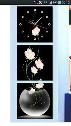 Clocks Handmade Clocks, Inspirational Wall Decals, Wall Decor, Wall Art, Wall Design, Living Room Designs, Walls, Paintings, Ideas