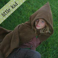 Fleece Hobbit Cape/Cloak Costume - little kid via Etsy