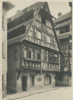 France, Strasbourg. La Taverne des Tanneurs, 1924 Vintage silver print. Tampon e | Collections, Photographies, Autres | eBay!
