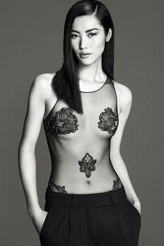 Liu Wen for La Perla s/s '14 #lingerie