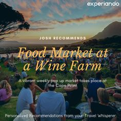 Enjoy a picnic with a spectacular view at the market at Cape Point winery just outside Cape Town. This is a great recommendation from our member Josh. A must for wine lovers! Cape Town, The Outsiders, Picnic, Lovers, Wine, Marketing, Picnics, Picnic Foods