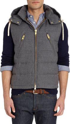 Gant Rugger Puffer Waistcoat at Barneys.com
