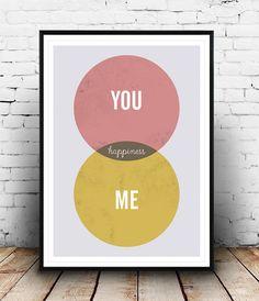 Love art print, Romantic art, Love quote, Valentines day gift, Wedding art…