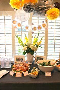 "Photo 1 of 36: Yellow & Grey / Bridal/Wedding Shower ""Yellow & Grey Bridal Shower"" | Catch My Party"