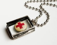 Great Red Cross Necklace . . .