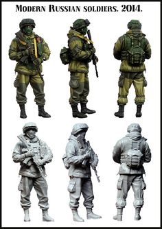 Modern Russian Soldier in 1/35 scale resin from Evolution Miniatures