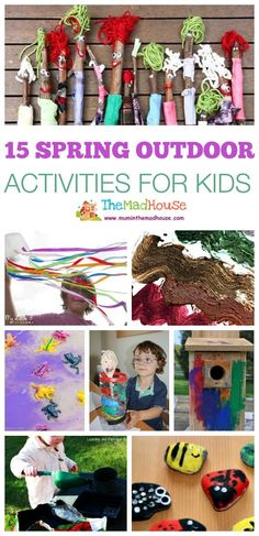 15 spring outdoor activities for kids. Activities, crafts and ideas that encourage your children to leave behind the tech and enjoy the beautiful outdoors. Outdoor Activities For Toddlers, Christmas Activities For Kids, Nature Activities, Spring Activities, Learning Activities, Kids Learning, Crafts For Kids, Indoor Activities, Fun Crafts