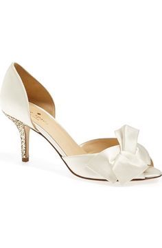 Kate Spade Sala Pump in Ivory Gold Glitter Kate Spade Bridal Shoes 6c38cb150fbb