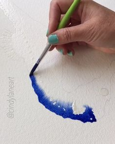 The way the ink flows is so relaxing. Seahorse painting by Cindy Lane Art