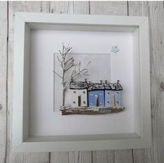 ****SOLD***NOW SOLD ** THANK YOU****** . and then there's Winter although perhaps it should be of a rainy scene rather than a snowy one! Driftwood Sculpture, Driftwood Art, Beach Crafts, Diy And Crafts, Craft Projects, Projects To Try, Driftwood Projects, Cute House, Miniature Houses