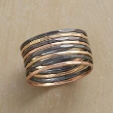 Wear this chic, streamlined Melissa Joy Manning stacking rings set any way you please.