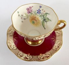 Your place to buy and sell all things handmade China Cups And Saucers, Teapots And Cups, China Tea Cups, Antique Tea Cups, Vintage Cups, Cup And Saucer Set, Tea Cup Saucer, How To Make Tea, Tea Time