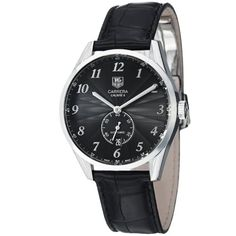 TAG Heuer Men's WAS2110.FC6180 Carrera Black Leather Strap Watch #best #sellers #luxury #watches