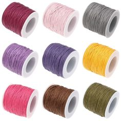 USD Dear,friend,Welcome to our online store: Wax Cord, Waxed Cotton Cord, with plastic . Shamballa Bracelet, Armband Diy, Cheap Bracelets, 100 Yards, Lace Tee, Scrapbook Supplies, Jewelry Findings, Coupon Codes, Jewelry Accessories