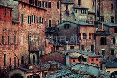 """Tuscanian Town"" Photography art prints and posters by David Pinzer - ARTFLAKES.COM"
