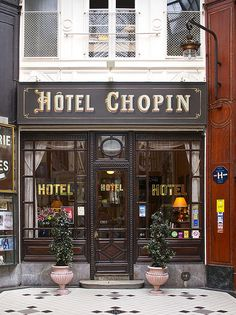 the charming & always filled with ambiance Hôtel Chopin in Paris.