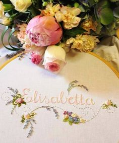 This lovely floral piece is by the talented embroiderer Elisabetta Sforza. You can see more of Elisabetta`s work on her blog at http://elisabettaricami.blogspot.ca/