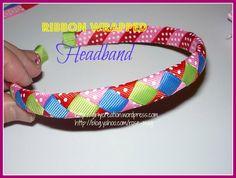 Four ribbon wrapped headband