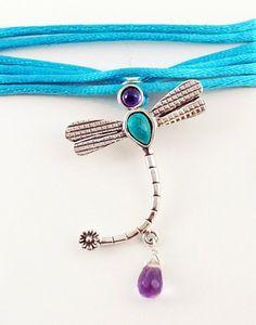 Collar de libélula, en plata  $397 mnx