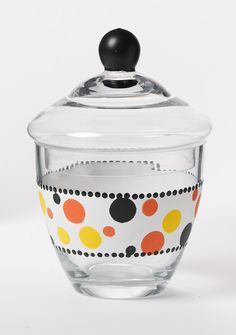 Glass Painting - Martha Stewart Halloween Polka-Dot Apothecary Candy Dish