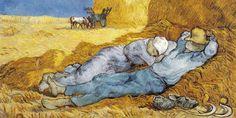Vincent van Gogh: Noon: Rest from Work (after Millet). Oil on canvas. Vincent Van Gogh, Claude Monet, Artist Canvas, Canvas Art, Van Gogh Pinturas, Gauguin, Buy Wallpaper Online, Van Gogh Paintings, Peter Paul Rubens