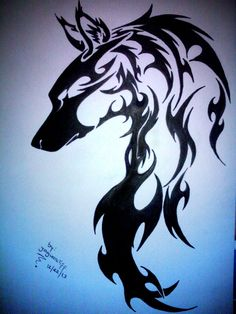wolf tribal tattoo - Google Search