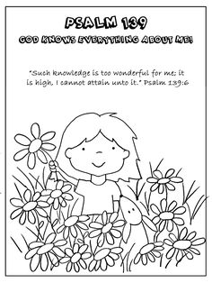 Psalm 139 worksheet - God knows everything about me.