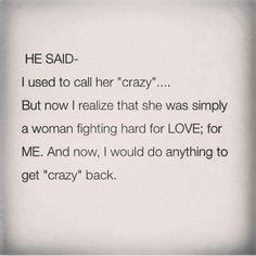 Call me crazy. Lol