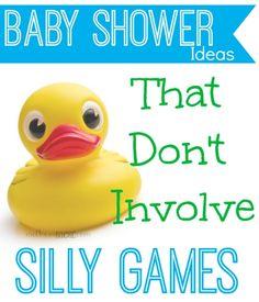 no-game baby shower ideas