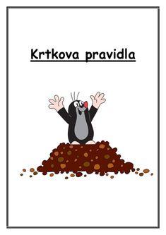 Krtkova Pravidla :: Msbystrice Motto, Preschool, Classroom, Education, Blog, Movie Posters, Mole, Carnavals, Africa