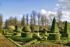 Part of the superb formal garden at Great Fosters Hotel in Egham, Surrey.