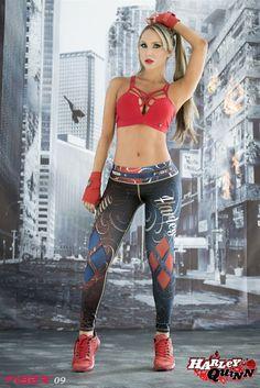 Harley Quinn - Super Hero Leggings - Fiber - Roni Taylor Fit  - 1