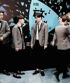 kyungsoo trying to hit jongin #jongdae be watching#kaisoo