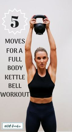 Fitness Try out these 5 moves for a full body kettlebell workout that you can take with you anywhere you go! - Looking to spice up your your workout routine? Try this kettle bell workout for women to get a full body burn and a quick carido session. Kettlebell Training, Circuit Kettlebell, Full Body Kettlebell Workout, Kettlebell Benefits, Kettlebell Challenge, Boxing Workout, Kettlebell Workouts For Beginners, Fun Workouts, At Home Workouts