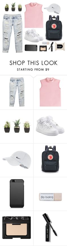 """Untitled #30"" by anandptr on Polyvore featuring Wet Seal, RED Valentino, NIKE, Fjällräven, NARS Cosmetics, Bobbi Brown Cosmetics, H&M, outfit, tumblr and ootd"