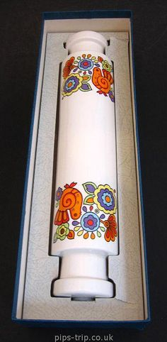 1960s Lord Nelson Pottery (England) 'Gaytime' Rolling Pin