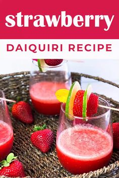 The best frozen Strawberry Daiquiri recipe ever! This strawberry daiquiri cocktail is smooth, fruity, and so flavorful. Your new favorite cocktail! Strawberry Vodka Drinks, Strawberry Daiquiri Recipe, Fruity Alcohol Drinks, Drinks Alcohol Recipes, Recipes With Frozen Strawberries, Vodka Frozen Drinks, Cocktails Made With Vodka, Frozen Drink Recipes, Drink Recipes