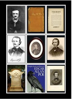 Edgar Allan Poe set x 9 Fridge Magnets