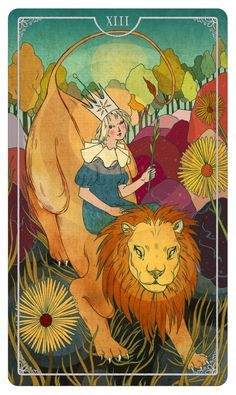 Queen of Wands - Ostara Tarot by Julia Iredale